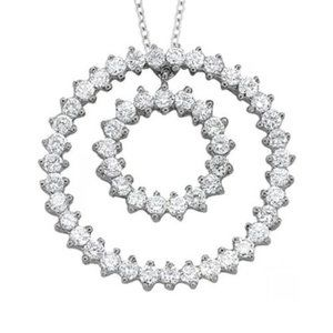 Sparkling Diamond Pendant Without Chain 2.75 Carat